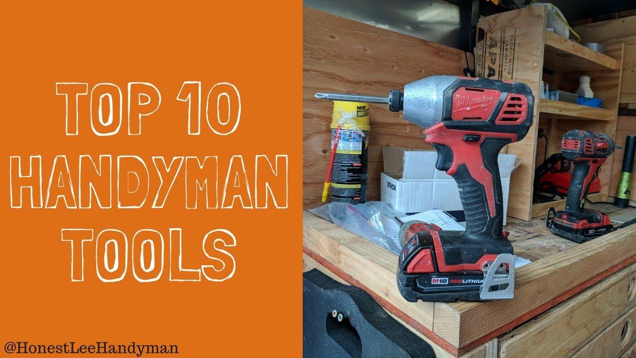 Top 10 Handyman Tools YouTube video